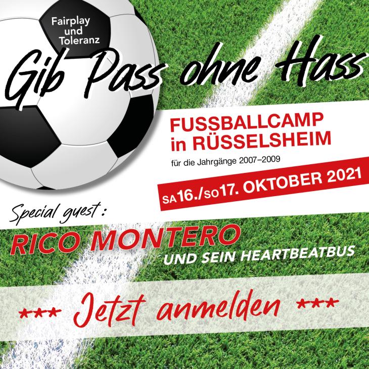 Gib Pass ohne Hass - Das Fußballcamp gegen Antisemitismus und Rassismus im Sport